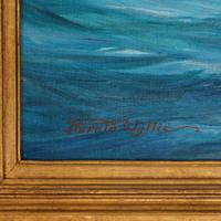 A rare painting of 1930 America's Cup racing off Newport, signed 'Harold Wyllie' (7 of 12)