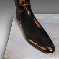 Antique Decorative Boot Tree, English, Beech, Ornamental, Shoe Last, Edwardian (10 of 12)