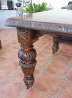 Edward and Roberts Wind up dining  table seats 10 country oak (10 of 10)