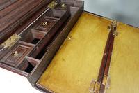 Late 19th Century Highly Figured Mahogany & Brass Writing Slope (8 of 8)