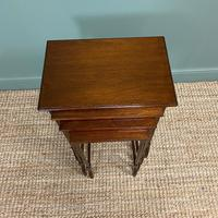 Stunning Set of Four Edwardian Antique Nest of Tables (2 of 5)