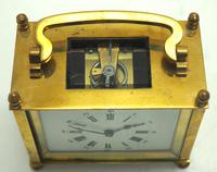 Interesting Antique French 8-day Carriage Clock Rectangle Design (5 of 9)