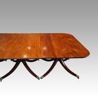 George V Mahogany 3 Pillar Dining Table (7 of 14)