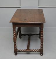 17th Century Bobbin Turned Oak Side Table (8 of 12)
