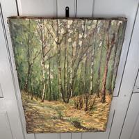 Antique German Impressionist Landscape Oil Painting of Woodland Signed Keiker (3 of 10)