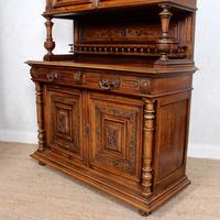 Large German Carved Walnut Bookcase Cabinet 19th Century (9 of 14)