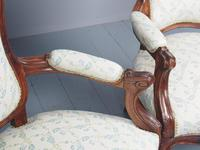 Antique Pair of French Rosewood Armchairs (14 of 19)