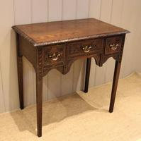 Early 19th Century Carved Oak Lowboy (3 of 11)