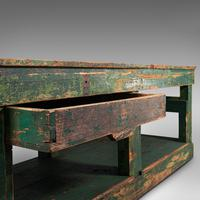 Large Antique Factory Work Table, English, Pine, Industrial, Mill, Victorian (10 of 10)