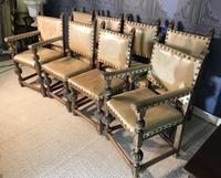 Set of Eight Oak Dining Chairs (4 of 14)