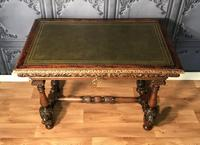 Victorian Carved Oak Library Table (23 of 25)