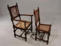 Attractive Set of 6 Early 20th Century Jacobean Style Chairs in Oak (3 of 6)