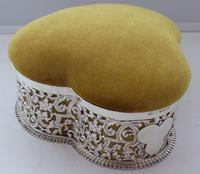 Large Victorian 1899 Hallmarked Silver Jewellery Box Pin Cushion Ring Earring (2 of 13)