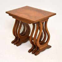 Antique Regency Style Figured Walnut Nest of Tables (4 of 12)