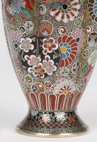 Oriental, Chinese / Japanese Exceptional Silver Metal Cloisonne Vase (25 of 25)