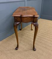 Serpentine Fronted Queen Anne Style Burr Walnut Side Table (3 of 16)