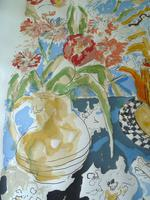 Modern British , Bloomsbury Group L/E Still Life Print- Indistinctly Signed (7 of 7)