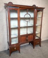 Edwardian Carved Mahogany Display Cabinet / China Cabinet (2 of 13)