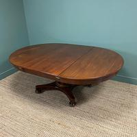 Antique Victorian Mahogany Pedestal Extending Dining Table (4 of 7)