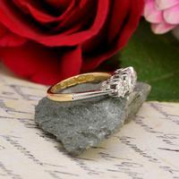 The Victorian 1895 Old Cut Three Diamond Ring (4 of 5)