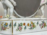Pair of Small Dresden Victorian Style Porcelain Cherub Table Mirrors (40 of 60)
