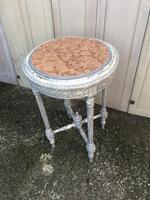 Painted French marble top occasional table (8 of 8)