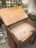 Antique Oak Clerk's Desk with Cupboard (8 of 11)