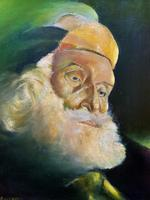 Early 1900s Oil Portrait Painting of Elderly Bearded Indian Gent (3 of 12)