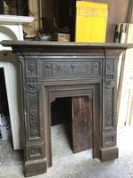 Antique Cast Iron Fireplace Surround with Mantelpiece