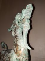 Chinese Archaistic Silver / Gold Coloured Inlaid Bronze Mythical Qilin (9 of 15)