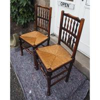 Good Pair of Country Spindle Back Chairs (5 of 6)