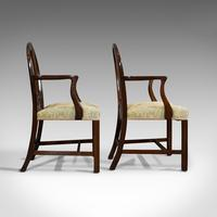 Pair of Antique Hepplewhite Revival Carvers, Mahogany, Armchair, Victorian (11 of 12)