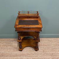 Stunning Victorian Walnut Antique Davenport Whatnot (4 of 10)