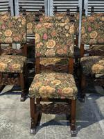 Set of 8 French Oak Dining Chairs (6 of 18)