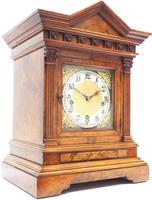 Incredible Burr Walnut Mantel Clock Westminster Chime Musical Bracket Clock Chiming on 5 Coiled Gongs (2 of 5)
