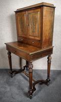 19th Century French Rosewood & Brass Inlaid Bonheur Du Jour (11 of 12)