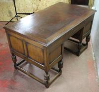 1930s Carved Oak Desk with Good Oak Top. 1 Piece (4 of 4)