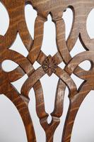 Set 4 Edwardian Arts & Crafts Oak Dining Chairs (10 of 13)