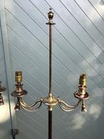 Pair of Antique Brass Floor Lamps (4 of 8)