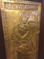 "Art Nouveau Brass Plaque "" Pandora"" (2 of 6)"