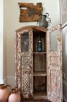 Unique Tall Two Door Teak & Painted Cabinet (2 of 16)