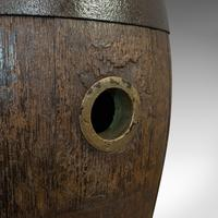 Pair Of, Antique Whiskey Pins, Oak, Barrel, Side Table, Taunton, Victorian, 1900 (3 of 11)