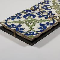 A Panel of Two Square Ottoman Empire 'Dome of the Rock' Tiles (3 of 3)