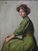 Armand Laureys b.1867 La Femme En Vert c.1900 (2 of 7)