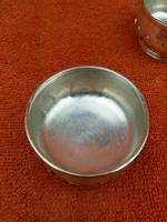 Antique Sterling Silver Hallmarked Heavy Salts & Liners 1924, Oldfield Ltd, Birmingham (4 of 12)