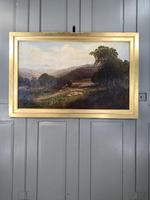 Antique Signed Victorian Landscape Oil Painting of Flock of Sheep (10 of 10)