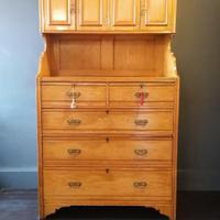 Large Edwardian Pine Chinoiserie Style Dresser (3 of 16)