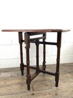 Antique 19th Century Mahogany Folding Table or Small Table (3 of 10)