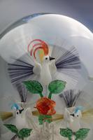 A Rare & Fine Stourbridge Type Glass Bird Fountain Frigger Under Dome C.19thc (7 of 9)