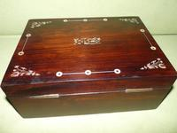 Inlaid Rosewood Jewellery Box + Tray c.1845 (7 of 12)